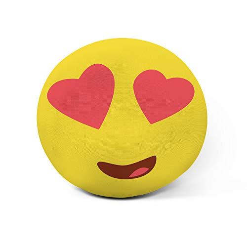 AR Regalos Cojín Emoji Personalizado con Frase (Emoji Ojos con Corazones)