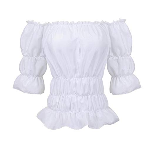 Grebrafan Retro Gothic Steampunk Leather Corset 3 Piece Outfits for Women Bustiers Skirt White Blouse Set (UK(14-16) 2XL, Brown) steampunk buy now online