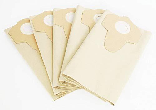 5 sacchetti per aspirapolvere 30 litri marrone sporco grossolano Parkside Lidl PNTS 1400 A1 1400 B1 1400 C1 1400 D1 1400 E2 antistrappo
