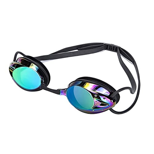 JKLO 2 unids natación Gafas Hombres Mujeres de Alta definición a Prueba de Agua Anti-Niebla de Lentes galvanales de Lentes de Adultos for Adultos Gafas 910 (Color : 03, Size : One Size)