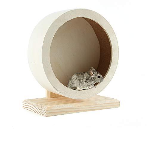 JEMPET Hamster Silent Running Exercise Wheels,Made of Wood (S)