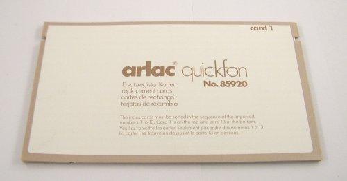 Arlac - Ersatzregister Karten für Quickfon