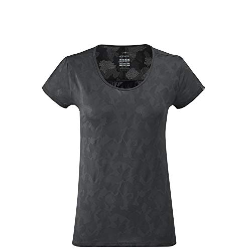 Eider Flex Jacquard Tee W Shirt Femme, Crest Black, FR : S (Taille Fabricant : S)