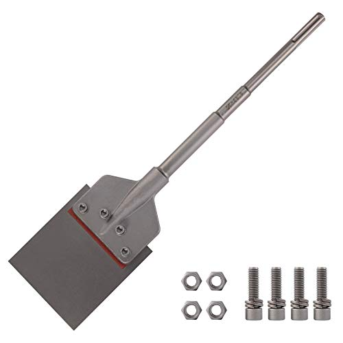 CO-Z SDS-Max Chisel Bit 6 Inch Blade Scraper 2 Foot Long Handle Tile Grout Adhesive Wallpaper Thinset Wood Linoleum Flooring Removal Tool for All Rotary Hammer Drills Compatible with SDS-Max Bits