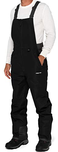 Arctix Men's Essential Insulated Bib Overalls, Black/Charcoal, Small (29-30W 32L)