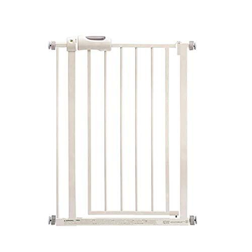 L.TSA 63-67cm Wide Safety Baby Gate, Porte de sécurité pour Animaux de Compagnie en métal Blanc, Fonction à Une Main, Hauteur de 78 cm