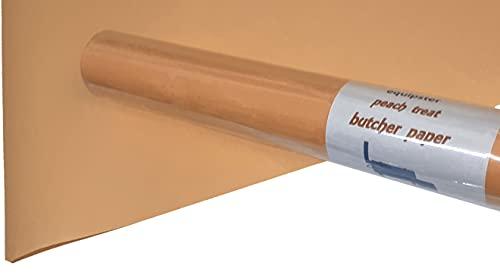 equipster Butcher Paper Kraftpapier Metzgerpapier Peach Pfirsich Papier für BBQ Smoker Fisch Fleisch Wurst 380 mm x 10m