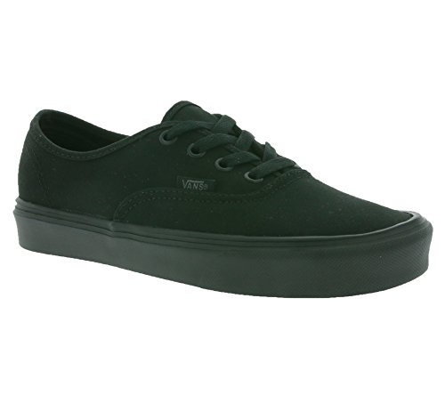 Vans Unisex-Erwachsene Authentic Lite Plus Low-top, Schwarz (Canvas/Black/Black), 36 EU
