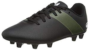 canterbury Phoenix 3.0 Junior Firm Ground Rugby Shoe, Black/Deep Lichen Green/White, 2 UK from Canterbury