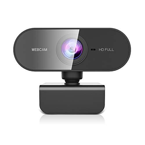Webcam con Microfono para PC,Cámara Web 1080p HD