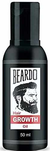 Beardo Beard and Hair Growth Oil - 50 ml for faster beard growth and thicker looking beard   Natural Actives Only   No Harmful Chemicals   Best Beard Oil for Patchy and Uneven Beard   Clinically Tested   Non Sticky