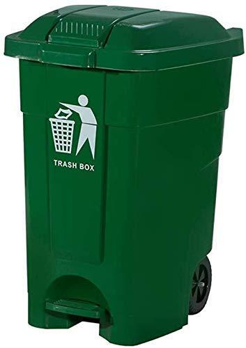 ZLJ Puede ser Bote de Basura Bote de Basura Bote de Basura Bote de Basura para Reciclar Basura del Centro Comercial Bote de Basura Casi con una Capacidad de 80 litros (Color: Verde)