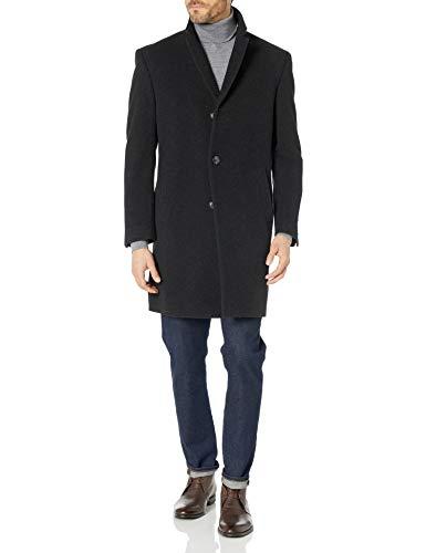 Nautica Men's Top Coat, Dark Charcoal, 42R