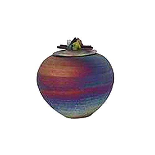 Raku Dream Catcher Jar with Gemstone Lid (Wishing Pot)