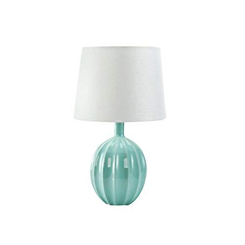 YIXIN2013SHOP Lámpara Mesilla de Noche Lámpara de Mesa de cerámica Minimalista Moderna Dormitorio Lámpara de cabecera Lámpara de Mesa mediterránea Creativa Lámparas de Escritorio