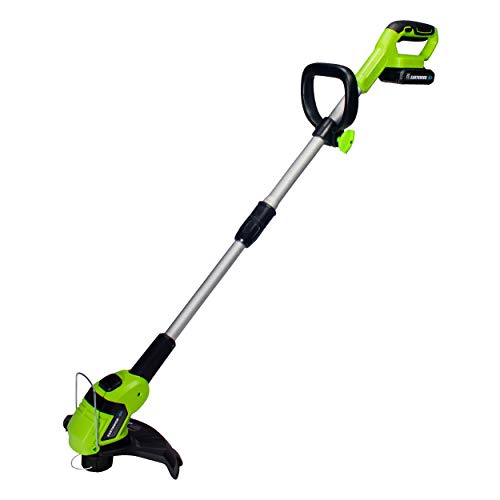 Earthwise LST02010 20-Volt 10-Inch Cordless String Trimmer, 2.0Ah Battery & Fast Charger Included, One Size