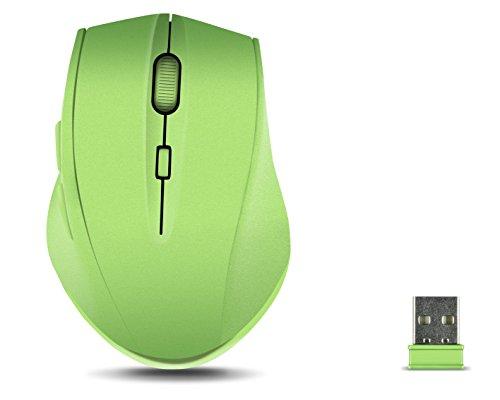 Speedlink CALADO Silent Mouse - Leise Maus ohne Klick, Lautlos, Geräuschlos, Stumm, Ergonomisch, Kabellos, Drahtlos, Funk, Wireless (optischer Sensor, 1.600dpi, Nano USB, 5 Tasten, DPI Switch) grün