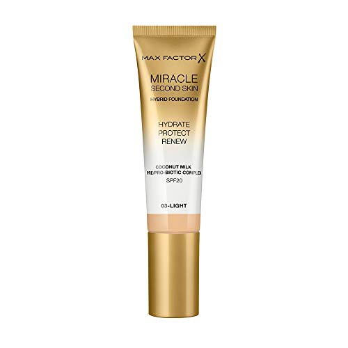 Max Factor Miracle Second Skin Foundation LSF 20 - Farbe 03 Light, 30 ml