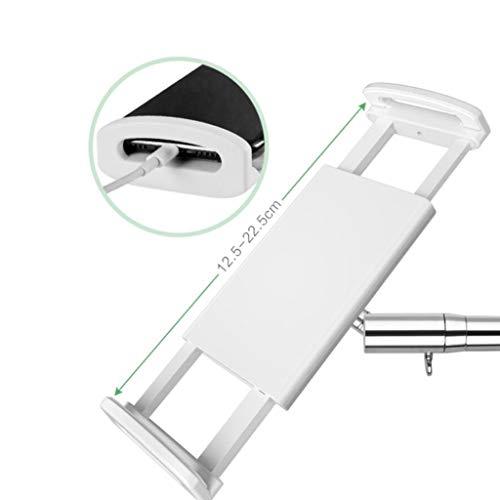 Tablet Verstelbare Floor Stand, Universal 360 Graden Draaibare Metal Tablet Holder Compatibel Met Pad Phone, For Slaapkamer Keuken Living Room Outdoor (Color : Metallic, Size : 150cm)