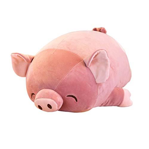 Toyvian Plüsch Schwein Figur Baby Plüschtier Kuscheltier Stofftier Stoffpuppe Tierfigur Stoffspielzeug Weihnachten Geschenk für Kinder Kissen 60cm (Pfirsichherz)