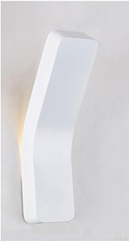 SPFOZ Wandleuchte Modern Minimalist Nordic Kreative Beleuchtung Korridor Aisle Bedroom Bedside Lampe (Farbe   Weiß, Größe   Small)