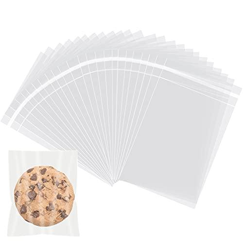 Selbstklebende Zellophanbeutel, 10,2 x 15,2 cm, transparent, wiederverschließbar, Zellophanbeutel, selbstklebend, 100 Stück