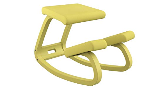 Varier Variable Balans Monochrome Original Kneeling Chair Designed by Peter Opsvik (Ochre)