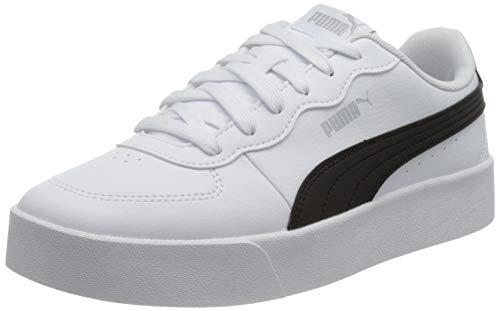 PUMA Skye Clean, Zapatillas Mujer, Blanco White Black, 39 EU