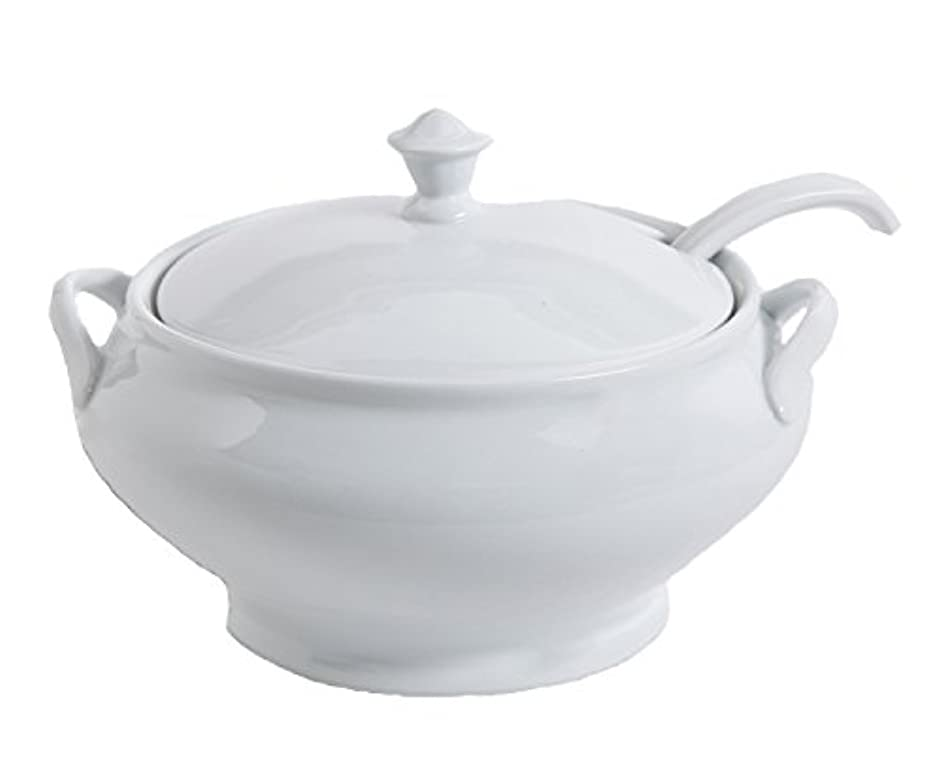Gibson Elite 101986.03RM Gracious Dining Soup Tureen with Ladle Ware, 12.75