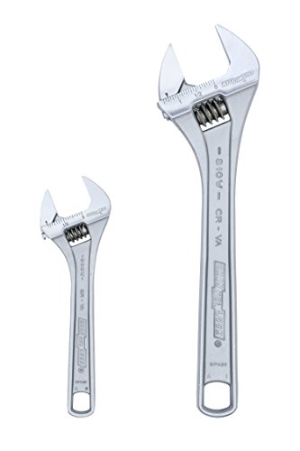 Channellock WS-2 Adjustable Wrench Set, Chrome, 2-Piece