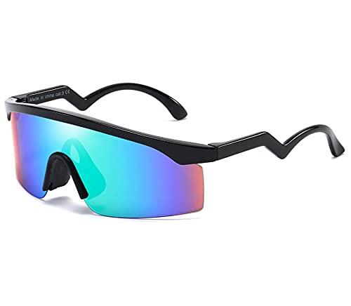 ZHMIAO Gafas de Sol Polarizadas Gafas de Ciclismo, Gafas Deportivas Protección UV 400 para Correr Gafas Blue