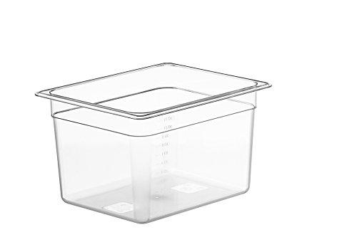 LIPAVI Sous Vide Contenedor – Modelo C10 cuartos – 12,7 x 10,3 pulgadas – Policarbonato resistente Estante L10 a juego y tapas a medida, Transparente transparente