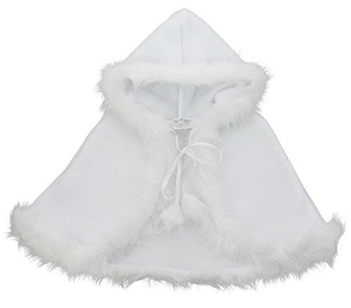 Boutique-Magique Taufmantel, Fleece, für Babys Gr. Einheitsgrobe, weiß
