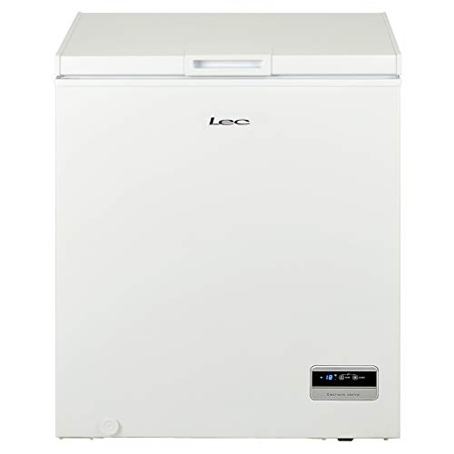 Lec CF150LW Freestanding Chest Freezer, Electronic Temperature Control, 142L Total Capacity, White