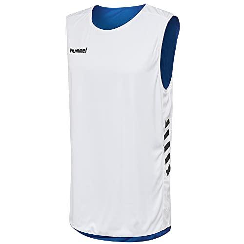 Hummel Camiseta Basket sin Mangas Blanco/Azul 100% poliéster Unisex Talla 5XL