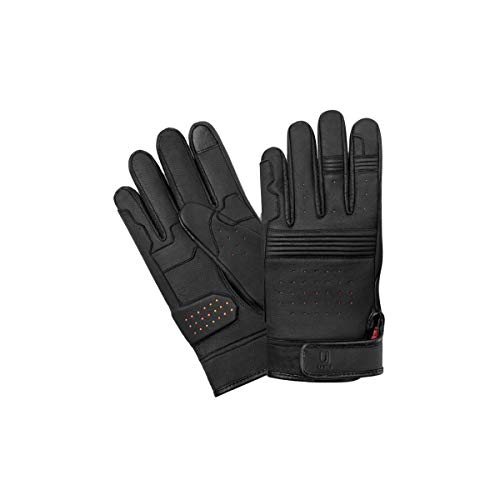 UJET guantes de hombre de cuero aptos para pantalla táctil de scooters, motos y motocicletas (L)