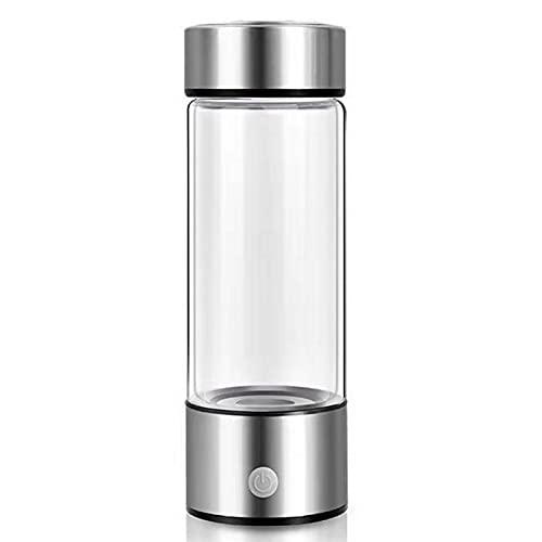 ZMIN Botella de Agua con generador Rico en hidrógeno, Tecnología SPE PEM Fabricante de Agua lonizado Recargable, antienvejecimiento 380ml