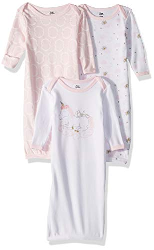 Yoga Sprout Unisex Baby Cotton Gowns, Unicorn, 0-6 Months