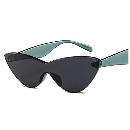 IRCATH Pequeño Marco Gato Ojo Gafas de Sol Mujeres Moda Gafas de Sol para Las Mujeres Color Transparente Vintage Rojo Negro Apto para Golf, Ciclismo, Gafas de Sol de Pesca-C6