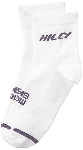 Hilly Mono Skin Lite Anklet White/Grey Unisex - Large 9 - 11 UK