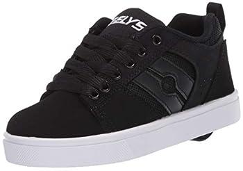 Heelys unisex child Racer 20 Wheeled Heel Shoe Black-t 5 Big Kid US