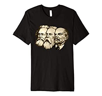 Vintage Soviet Marx Engels Lenin Russian Propaganda Poster Premium T-Shirt