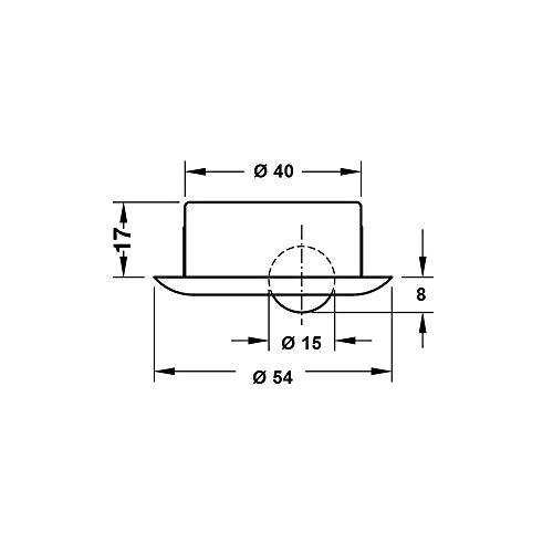 Gedotec Sockelsauger Sweepovac zum Einbauen unter Kücheneinheiten | Küchen-Staubsauger mit Edelstahlplatte | 330 x 110 mm | Leistung 650 W | mit 5 Staubbeutel im Set