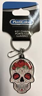 Amazon.com : Plasticolor Mexican Sugar Skull Key Chain ...