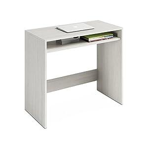 Habitdesign 008310Y - Escritorio, Mesa de Ordenador Acabado en Color Blanco Alpes, Medidas: 79x79x43 cm de Fondo