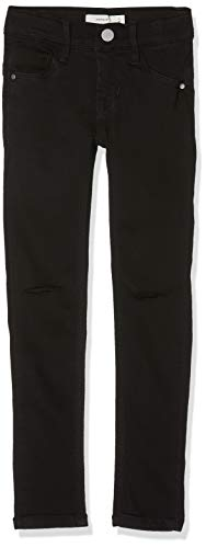 NAME IT NAME IT Mädchen NKFPOLLY DNMSUS Soft 7156 Pant NOOS Jeans, Schwarz (Black Denim Black Denim), 92