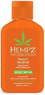 Hempz Yuzu & Starfruit Daily Herbal Lotion with Broad Spectrum SPF 30