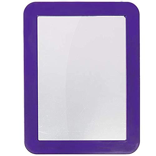 Katzco Purple 5 x 7 Inch Magnetic Mirror - Ideal for School Locker, Refrigerator, Home, Workshop or Office Cabinet, Purple