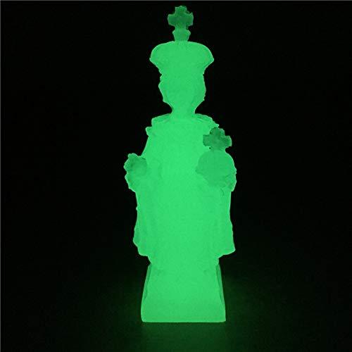Brillante Virgen Y Niños Figuras Hechos por El Hombre Jade Piedra Virgen María Jesús Estatuas Decoraciones De Navidad Hogar