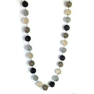 feelz Girlande Kugeln aus Filz, grau, natur, ungefärbt, Filzgirlande Bommel Dekoration Kugelgirlande Filzkugelkette…